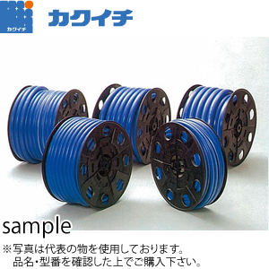 カクイチ 清流洒落 ドラム巻ホース 25mm×31mm 25m ブルー :KI0515