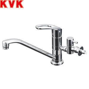 KVK シングルレバー混合栓分岐付 KM5011UTTU :KM9990