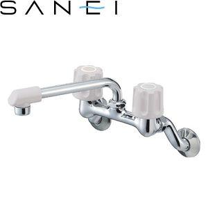 三栄水栓(SAN-EI) K21D-LH-13 ツーバルブ混合栓 キッチン用 U-MIX