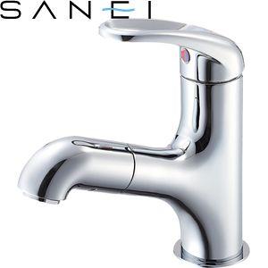 三栄水栓(SAN-EI) K4713JV-13 シングルスプレー混合栓(洗髪用)|洗面所用 U-MIX