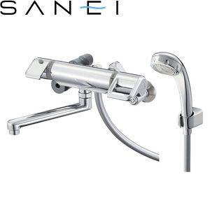 三栄水栓(SAN-EI) SK1810M9K-3U-13 サーモシャワー混合栓 バスルーム用 寒冷地用 節水水栓 :SB8562