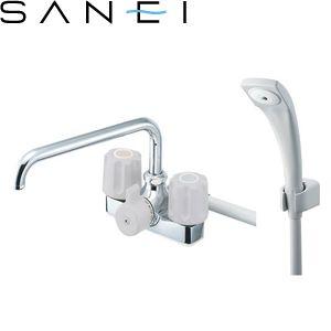 三栄水栓(SAN-EI) SK710K-LH-13 ツーバルブデッキシャワー混合栓|バスルーム用 U-MIX 寒冷地用 :SB8171