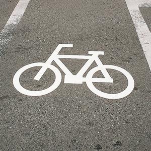 緑十字 路面標示サインマークテープ RHM-3 マーク自転車
