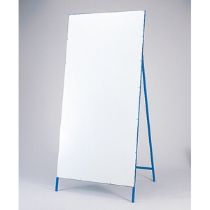 緑十字 工事用標識(多目的看板) 工事-5 白板 サイズ 1800x900mm
