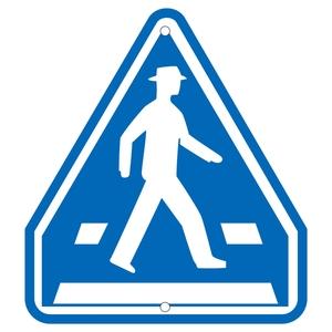 緑十字 道路標識 道路 407-A 横断歩道