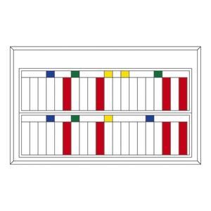 緑十字 マグネットネームプレートケース NM-40-A 40人用・指示札(緑・黄・青x各3)9個付