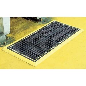 一流の品質 緑十字 セーフステップマット セーフステップF-157-6 カラー:ブラック(フチ黄色):セミプロDIY店ファースト-DIY・工具