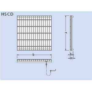 カネソウ スチール製グレーチング T2-HSCD-600 都営住宅型CDます用 670×665×38/58 プレーンタイプ