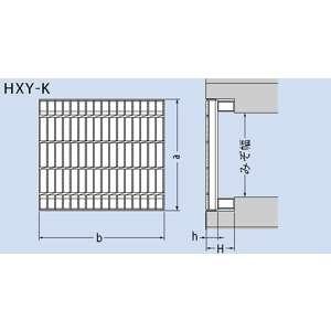 カネソウ スチール製グレーチング ノンスリップ かさあげ型 国土交通省型側溝用 630×995×65/130 :T14-HXY-K-6365B