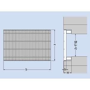 カネソウ スチール製グレーチング 細目プレーンタイプ かさあげ型 側溝用 390×594×32/100 :T14-QSY-3932A