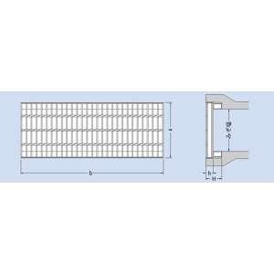 カネソウ スチール製グレーチング プレーンタイプ かさあげ型 自由勾配側溝用 690×490×75/140 :T14-HSV-96975A