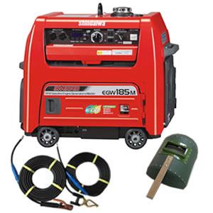 山彦产业(新大和工业)汽油发动机电焊机EGW185M-I(有kyaputaiyakodo 30M+10M)[发送限制商品]