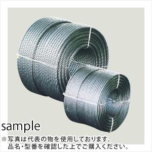コンドーテック JISワイヤロープ 裸(メッキ無) O/O (6×24) 6×200m