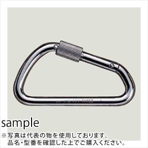 伊藤製作所(123) カラビナ 変D環つき 60x114mm KB10K (10個入/鉄製Ni-Crメッキ)