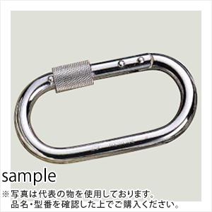 伊藤製作所(123) カラビナ レスキュー 56x109mm KR10 (10個入/鉄製Ni-Crメッキ)