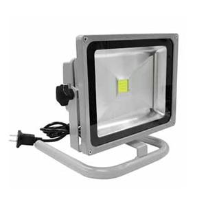 富士倉 LED投光器 30W LEDライト ダブルスタンド DN-019 2WAY クランプ&パイプフレーム付  広角タイプ(120°) LEDワークライト