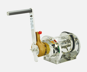 マックスプル 手動ウインチ ラチェット式(ストッパー内蔵式)電解研磨加工 ERSB-1-SI