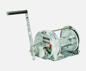 マックスプル 手動ウインチ 溶融亜鉛メッキストッパー内蔵ウインチGM-10-GS-SI