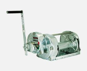 マックスプル 手動ウインチ 溶融亜鉛メッキストッパー内蔵ウインチGM-30-GS-SI  [送料別途お見積り]