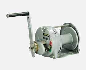 マックスプル 手動ウインチ 回転式(ストッパー内蔵式)メタリック塗装ST-5-SI