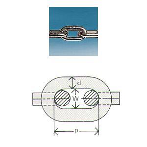 水本機械 ステンレスショートチェーン 短鎖環 30m 品番:22-S 1個価格 (SUS304)