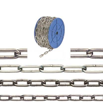 最安値で  水本機械 ステンレスチェーン リール巻 30m 線径5mm 品番:I-018 1個価格 (SUS304):セミプロDIY店ファースト-DIY・工具
