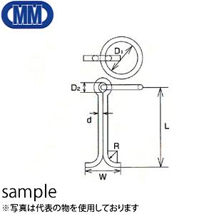 水本機械 ステンレス 係船環 MI型 品番:MI-32 1個価格 (SUS304)