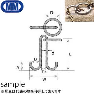 水本機械 ステンレス 係船環 MM型 品番:MM-32 1個価格 (SUS304)