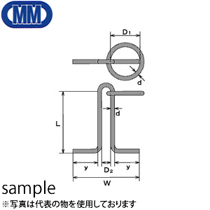 水本機械 ステンレス 係船環 MR型 品番:MR-19 1個価格 (SUS304)