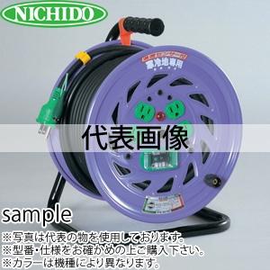 日動工業 30mコードリール 100V寒冷地型ドラム(屋内型) KNP-E34 アース付 コンセント:4口