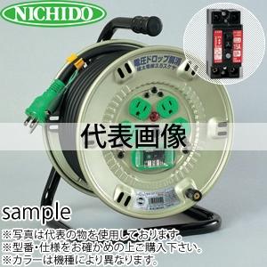 日動工業 20mコードリール 100V極太電線仕様ドラム(屋内用) NP-EK24F アース付(過負荷漏電保護兼用) コンセント:4口