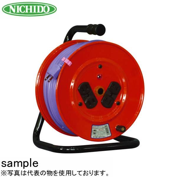 日動工業 30mコードリール 100V標準型ドラム(屋内用) NF-304F アース無 コンセント:4口
