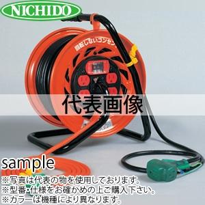 日動工業 30mコードリール 100Vマジックびっくリール(屋内用) RZ-EK30S アース付(過負荷漏電保護兼用) コンセント:3+4口
