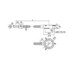 林時計工業 リングライトガイド LGB(C)1-8L1000-R50 :11440