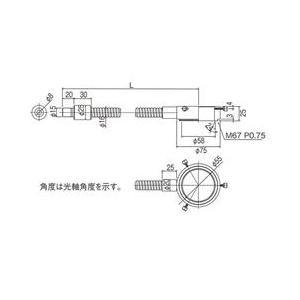 林時計工業 リングライトガイド LGB(C)1-8L1000-R55 :11450