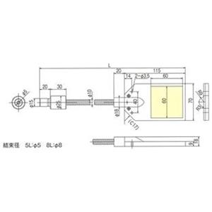 林時計工業 バックライト LGB(C)1-5L1000-PB60X60 :11510