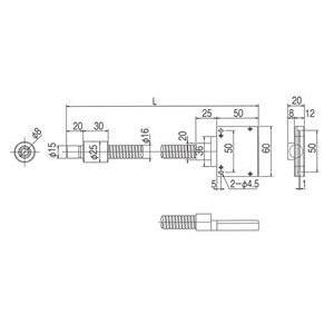 林時計工業 ラインライトガイド LGB(C)1-8L1000-LS50X1.0 :11630