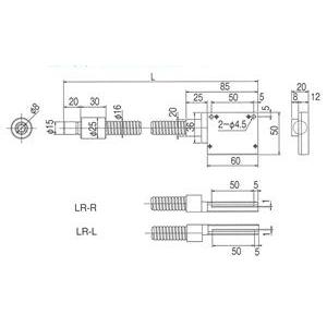 林時計工業 ラインライトガイド LGB(C)1-8L1000LR-R50X1.0 :11690
