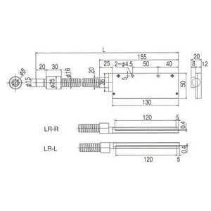 林時計工業 ラインライトガイド LGB(C)1-8L1000LR-R120X0.4 :11710