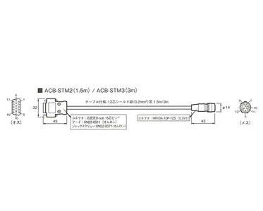 中央精機 MM-40/60接続ケーブル ACB-STM-3 3M :17070