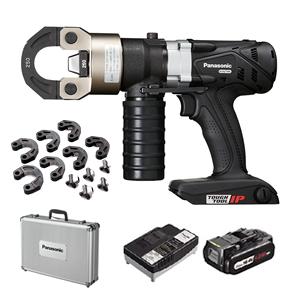 パナソニック 充電圧着器 EZ46A4K-B(黒) ケース・圧着ダイスセット+EZ9L54ST(18V電池・充電器セット)【在庫有り】【あす楽】
