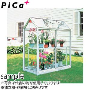 ピカ(Pica) 屋外用温室 プチカ WP-05 0.5坪 アルミ製 全面半強化ガラス 引戸タイプ [大型・重量物]