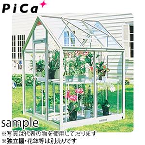 ピカ(Pica) 屋外用温室 プチカ WP-10H 1坪 アルミ製 全面半強化ガラス 引戸タイプ [大型・重量物]