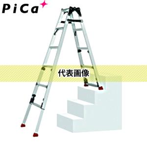 【期間限定4月まで】 ピカ(Pica) 四脚アジャスト式はしご兼用脚立 上部操作タイプ スタッピー 階段用 SCN-34 [配送制限商品]