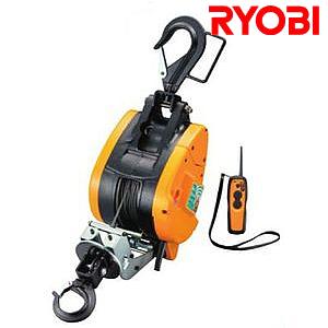リョービ(RYOBI) 電動リモコンウインチ WI-196RC ワイヤー30M【在庫有り】【あす楽】