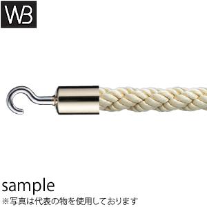 シロクマ(WB) パーティションロープ フックタイプ FPR-25C φ25×1800mm 金・ゴールド