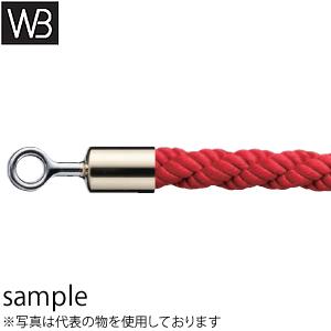 シロクマ(WB) パーティションロープ リングタイプ FPR-25R φ25×1800mm 金・レッド