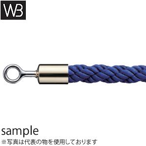 シロクマ(WB) パーティションロープ リングタイプ FPR-25R φ25×1800mm 金・ブルー