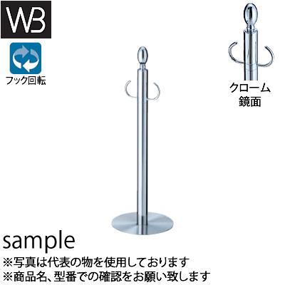 シロクマ(WB) フロアパーティションポール FPP-0631 φ32×525mm φ180 クローム/鏡面