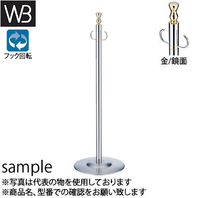 シロクマ(WB) フロアパーティションポール FPP-1302 φ32×910mm φ300 金/鏡面